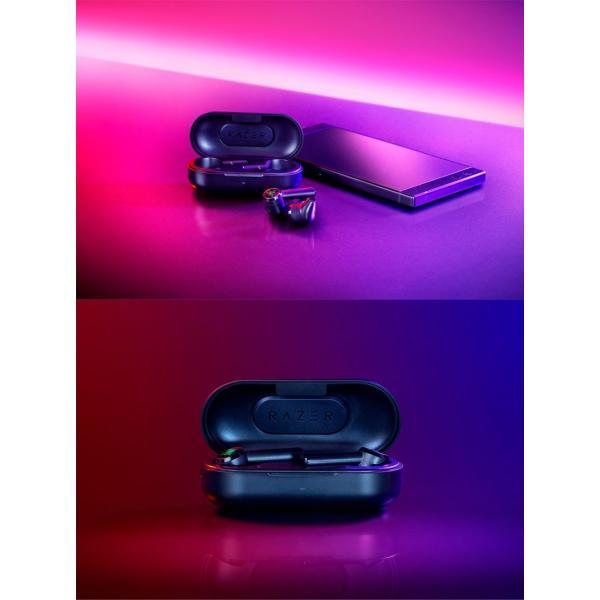 完全ワイヤレス イヤホン 独立 Razer レーザー Hammerhead True Wireless 完全ワイヤレス Bluetooth 5.0 ゲーミングイヤホン RZ12-02970100-R3A1 ネコポス不可|ec-kitcut|04