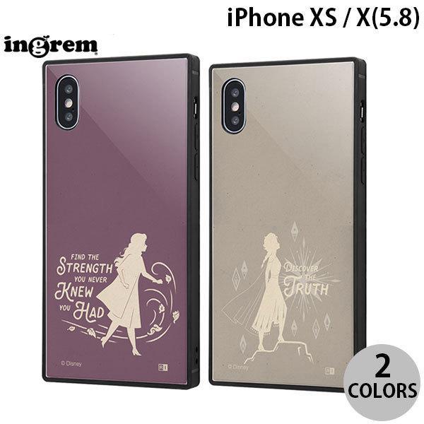 ingrem iPhone XS / X ディズニーキャラクター 耐衝撃ケース KAKU トリプルハイブリッド アナと雪の女王2 シルエット  イングレム ネコポス送料無料|ec-kitcut
