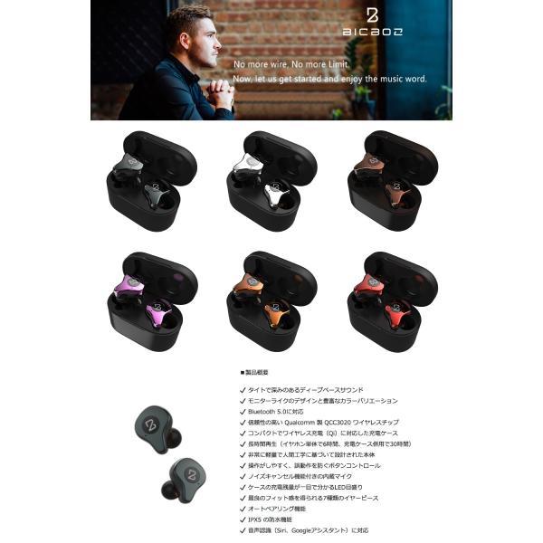完全ワイヤレス イヤホン 独立 BICBOZ B90 Pro Ultra Bluetooth 5.0 完全ワイヤレスイヤホン IPX5 防水 Qi充電 対応 ビックボズ ネコポス不可|ec-kitcut|04