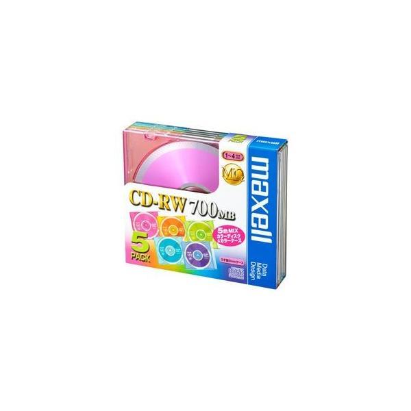 (業務用セット) 日立マクセル CD-RW 700MB 個別ケース 5枚入 〔×5セット〕
