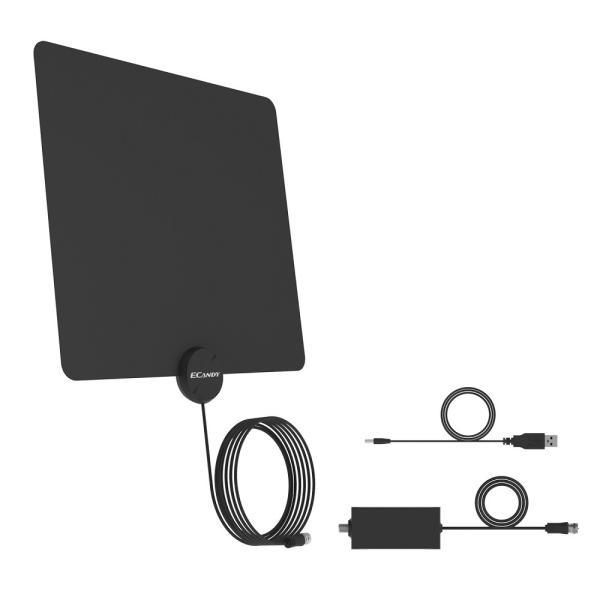 テレビ アンテナ TV アンテナ ペーパーアンテナ 室内 HD 地デジ UHF VHF対応 超軽量 超薄型 設置簡単 高耐久性 Ecandy|ecandy-japan|02