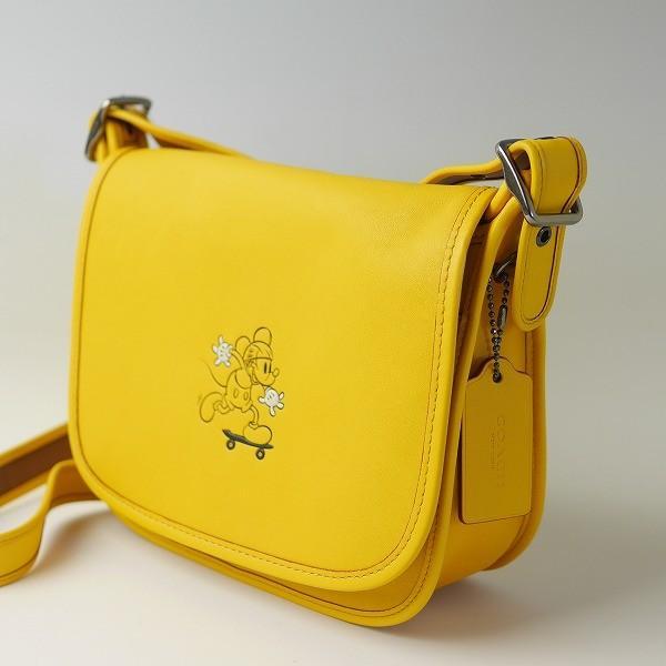 コーチ COACH バッグ ショルダーバッグ F59359 ディズニー コラボ ミッキーマウス レザー パトリシア サドル バッグ
