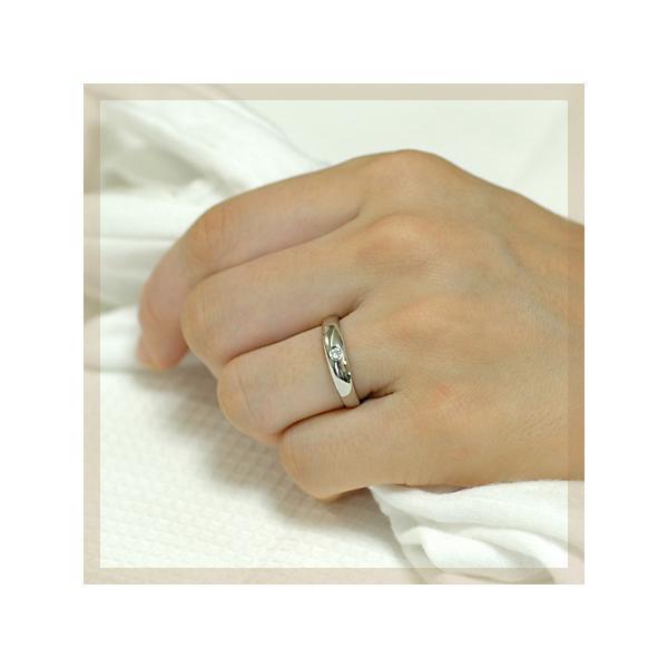 ダイヤモンド マリッジリング 結婚指輪 プラチナ950 サイネリアダイヤ