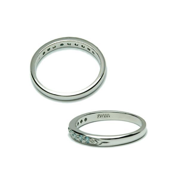 アイスブルー ダイヤモンド リング K18WG 指輪