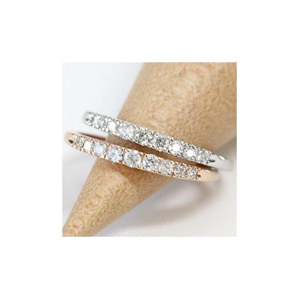 エタニティリング ダイヤモンド 0.16ct レディース 指輪 リング 18金 18k K18 ゴールド エタニティ ダイヤリング ハーフエタニティ グラデーション 文字入れ不可