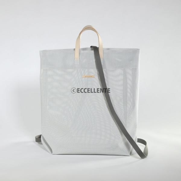 【ハンスカ】コーティングメッシュショッパー(ライトグレー)(ユニセックス) eccellente 03