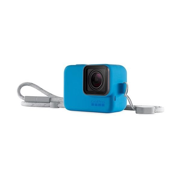 GoPro ACSST-003 スリーブ+ランヤード(ブルー)