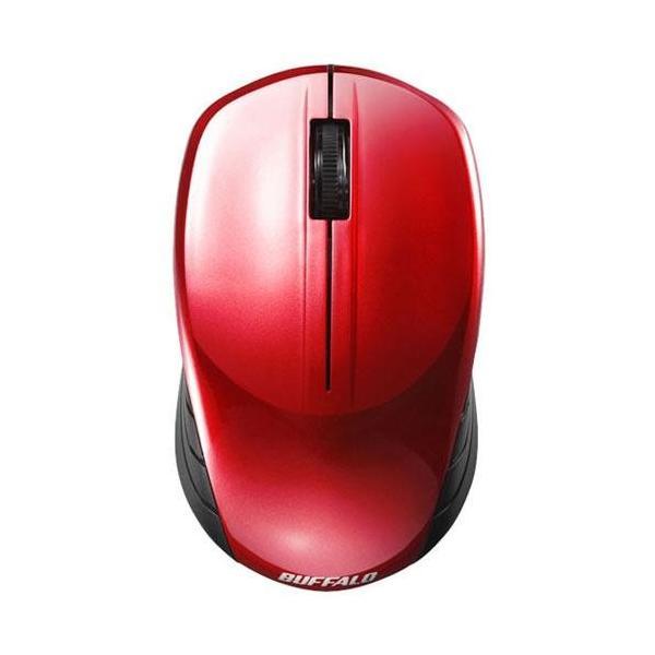 バッファロー 無線 BlueLED マウス BSMBW100RD レッドの画像