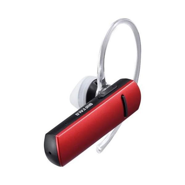 バッファロー Bluetooth4.0対応 片耳ヘッドセット BSHSBE200RD レッドの画像