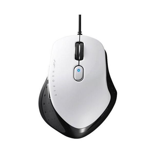 バッファロー 有線 BlueLED 5ボタン マウス BSMBU510MWH ホワイトの画像