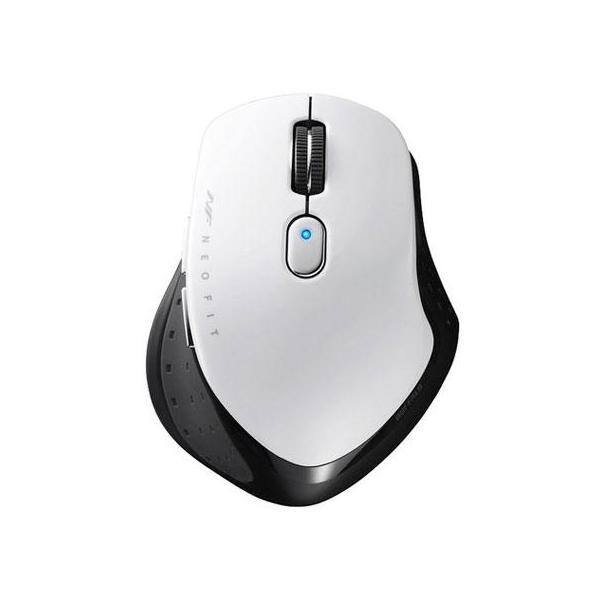 バッファロー 無線 BlueLED 5ボタン マウス BSMBW510MWH ホワイト新デザイン「3Wayホールド」を採用したマウス(無線・Mサイズ)の画像
