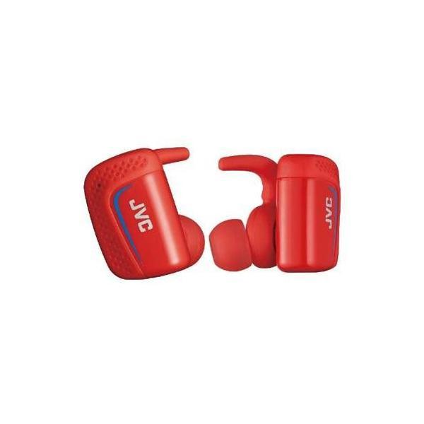 JVC Bluetoothヘッドホン HA-ET900BT-R レッド防水IPX5対応の完全ワイヤレスイヤホン(レッド)の画像