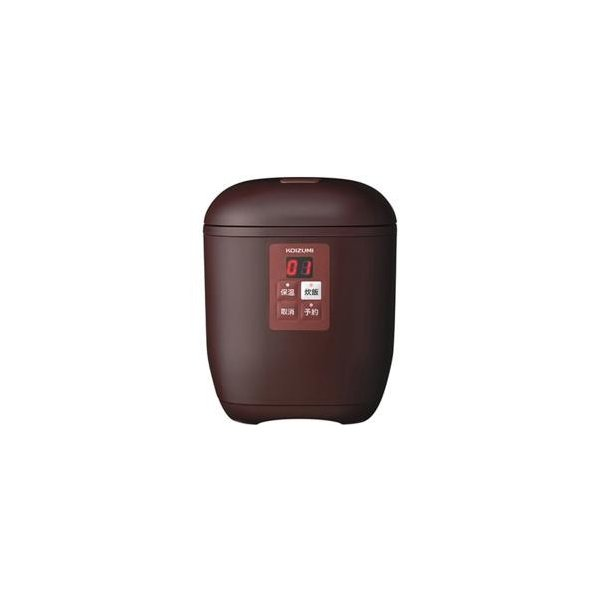 小泉 マイコン1.5合炊飯器 KSC-1512/T ブラウン 炊飯容量:1.5合の画像