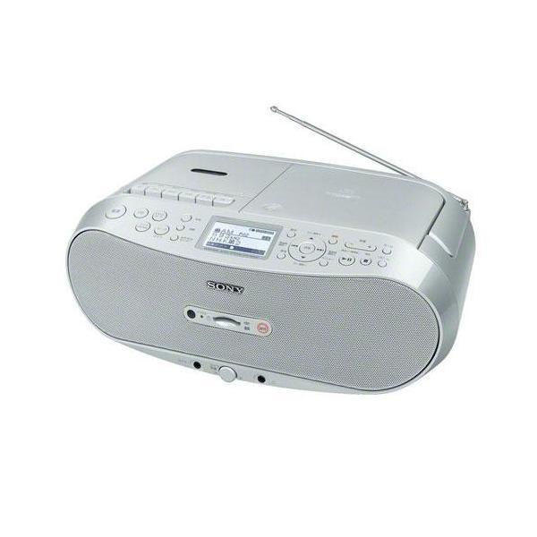【長期保証付】ソニー CFD-RS501(シルバー) CDラジカセ