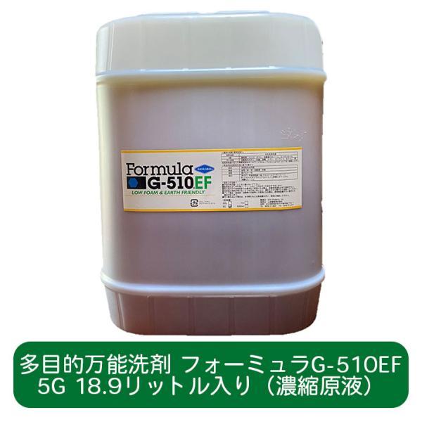 フォーミュラG-510EF 5ガロンボトル|人と地球環境に優しい多目的洗剤 油汚れ 食器洗い コンロ レンジ 洗濯 洗面 浴槽 トイレ カーペット 畳 ガラス 鏡 洗車