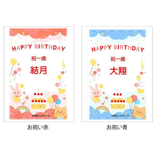 一歳 一升 餅 の代わり 米 新潟産 コシヒカリ 1升米 1.5kg 1 歳 一生|echigo-komesho|11