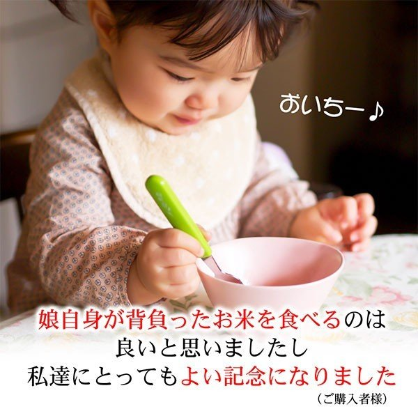 一歳 一升 餅 の代わり 米 誕生日 お祝い 新潟産コシヒカリ2合5個(300g*5個) 真空パック|echigo-komesho|03