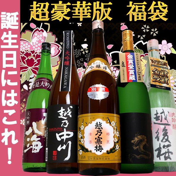 日本酒 大吟醸 飲み比べセット 越乃寒梅 吟醸酒入り 1.8L×5本 超豪華版 送料無料 echigo