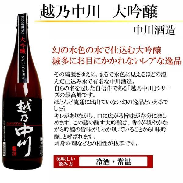 日本酒 大吟醸 飲み比べセット 越乃寒梅 吟醸酒入り 1.8L×5本 超豪華版 送料無料 echigo 08