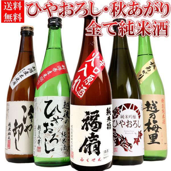敬老の日 ギフト プレゼント 2020 日本酒 飲み比べ セット ひやおろし 秋のお酒 720ml×5本(第2弾) echigo
