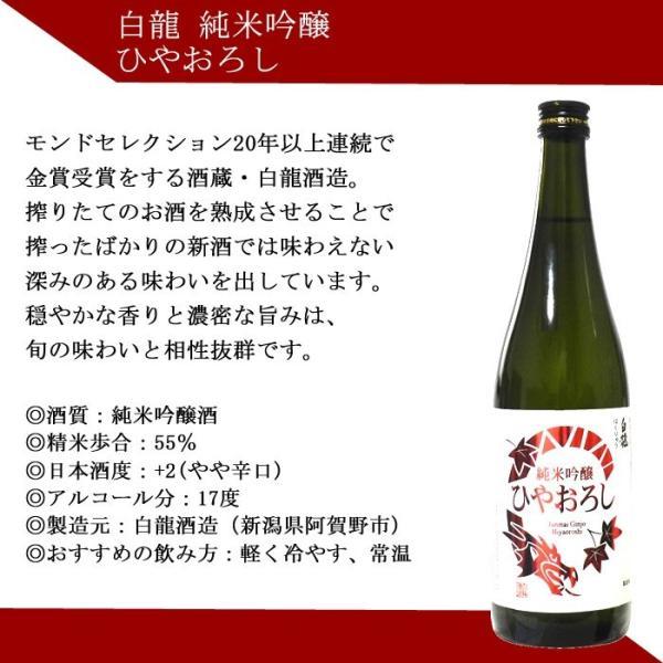 敬老の日 ギフト プレゼント 2020 日本酒 飲み比べ セット ひやおろし 秋のお酒 720ml×5本(第2弾) echigo 07