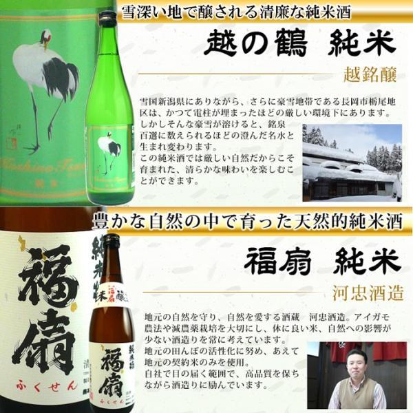 お歳暮 御歳暮 ギフト 2017  日本酒 日本酒 ギフト 新潟 日本酒 純米酒飲み比べセット720ml×6本|echigo|05