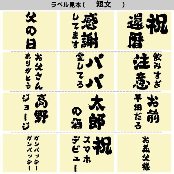 遅れてごめんね 父の日 日本酒 プレゼント 名入れ 父の日ギフト 飲み比べセット (風) ミニボトル300ml 50代 60代 70代 80代 送料無料|echigo|08