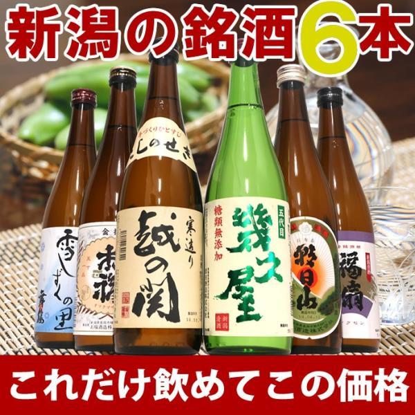 日本酒 飲み比べセット 純米吟醸入り720ml×6本(送料無料)|echigo