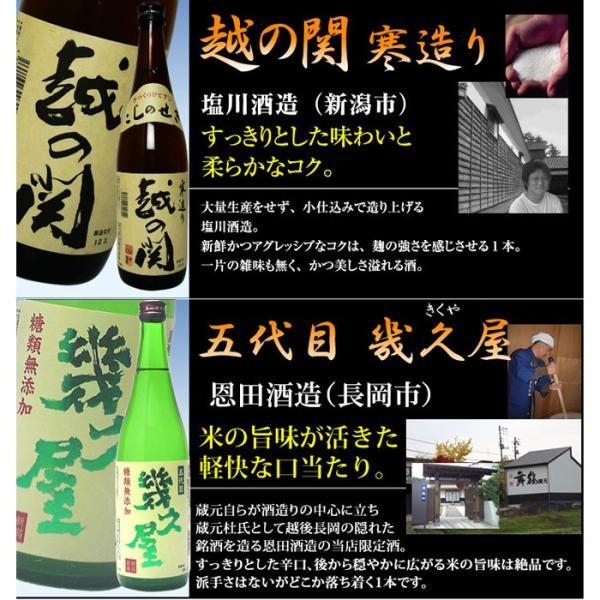 日本酒 飲み比べセット 純米吟醸入り720ml×6本(送料無料)|echigo|02