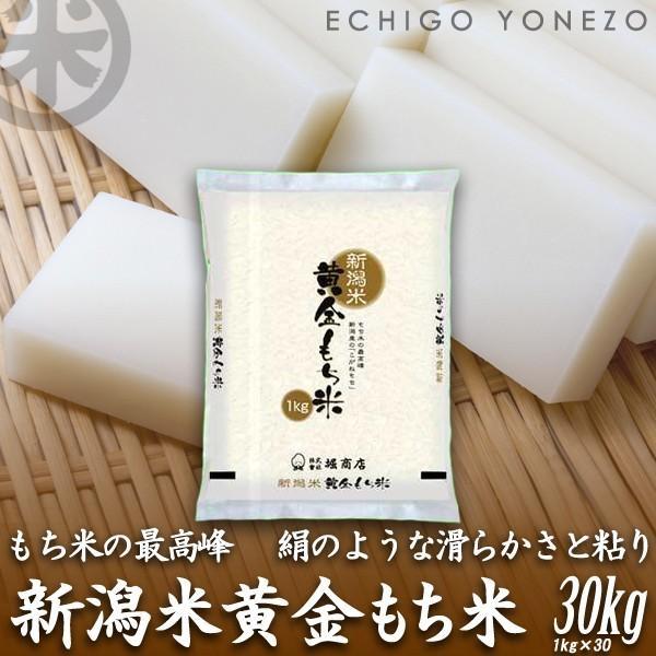 新米02  新潟産黄金もち米 30kg (1kg×30袋) 黄金餅米 100% 新潟県