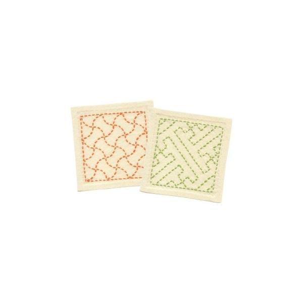 [VD001]オリムパス 刺し子キット 265(生成) 分銅つなぎ・紗綾形[RPT]