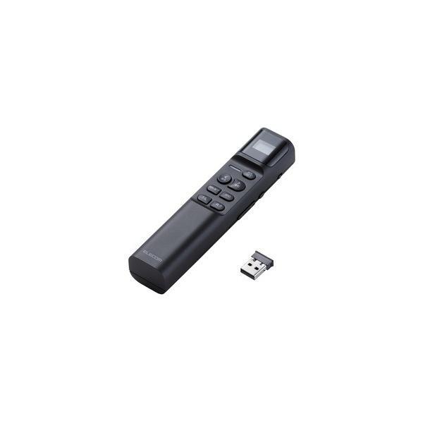 エレコム タイマー付き赤色レーザープレゼンター ELP-RL13PMBK ブラックの画像