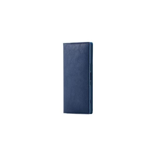 Xperia 1(SO-03L/ SOV40/ SoftBank)用 手帳型 ソフトレザーケース/ イタリアン(Coronet)(ネイビー) A エレコム PM-X1PLFYILNV