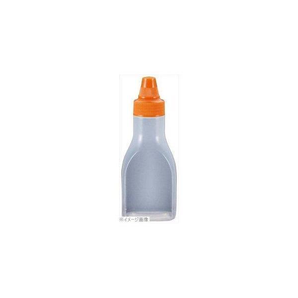 ノーブランド ドレッシングボトル(ネジキャップ)FD-220 241ml オレンジ 7049700 1個