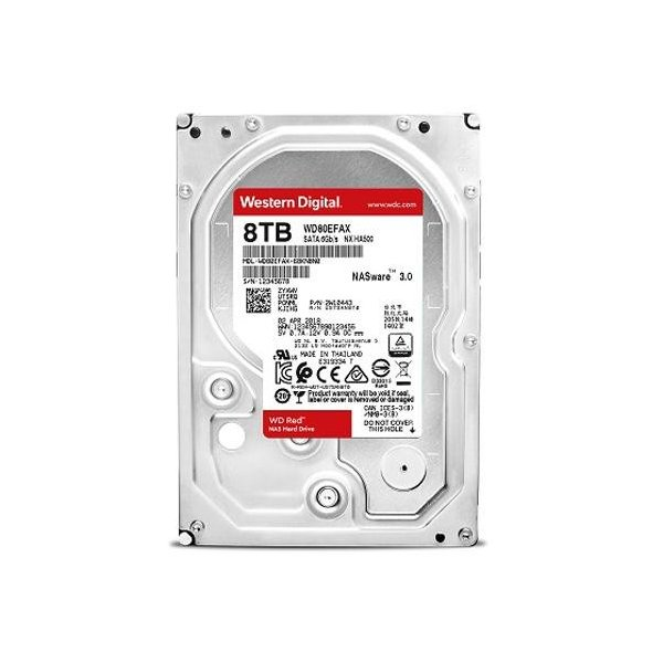 WESTERN DIGITAL WD Red SATA 6.0Gb/s 256MB 8TB 7200rpm 3.5inch AF対応(WD80EFAX-R)