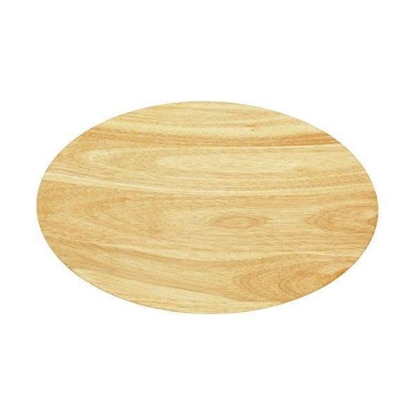 (丸和貿易)ラバーウッド 丸トレー30cm  100380402