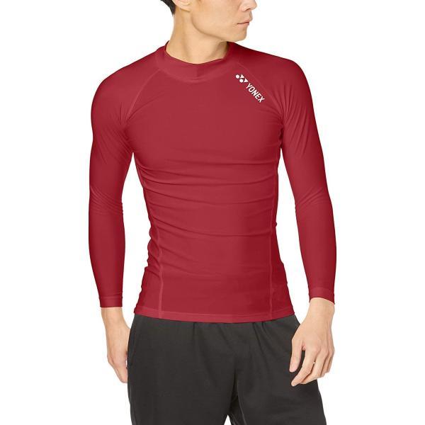 ヨネックス(YONEX) ヨネックス ユニハイネックナガソデシャツ 品番:STBF1015 カラー:ワインレッド(037) サイズ:XO