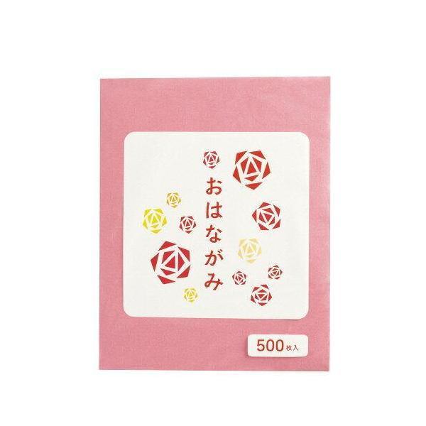 エヒメ紙工 お花紙 500枚 桃 EO-P500 入数:5