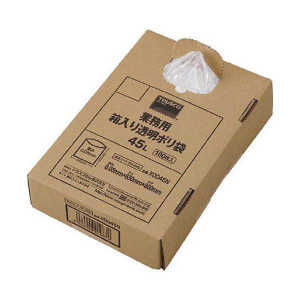 トラスコナカヤマ TRUSCO 業務用ポリ袋 透明・箱入り 0.05X120L 100枚入 X0120N
