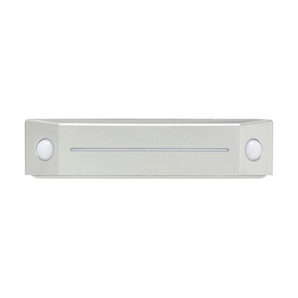 アイリスオーヤマ 乾電池式LEDセンサーライト フットタイプ 電球色 ウォームシルバー BOS-FL2-WS