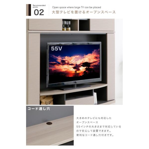 日本製 テレビ台 テレビボード ハイタイプ 幅180 高さ170 クリーンイーゴス|eckagudepo|05