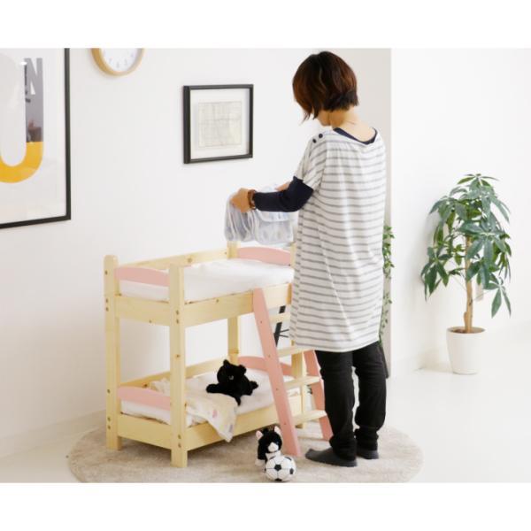 猫ベッド 猫用2段ベッド ネコベッド パイン材 カントリー調 夏 すのこ 無垢 天然木|eckagudepo|09