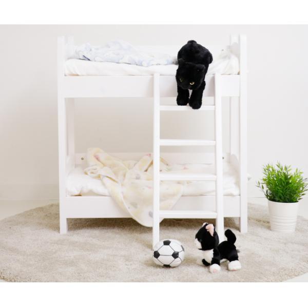 猫ベッド 猫用2段ベッド ネコベッド パイン材 カントリー調 夏 すのこ 無垢 天然木|eckagudepo|10
