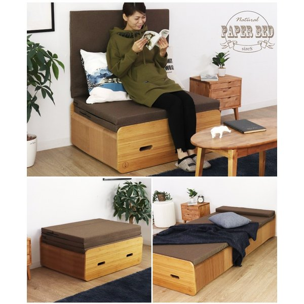 Paper Bed ペーパーベッド 紙ベッド 人気 セミシングル ベッド ソファ 収納|eckagudepo|12