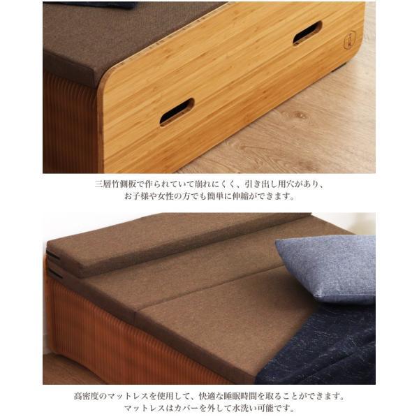 Paper Bed ペーパーベッド 紙ベッド 人気 セミシングル ベッド ソファ 収納|eckagudepo|06