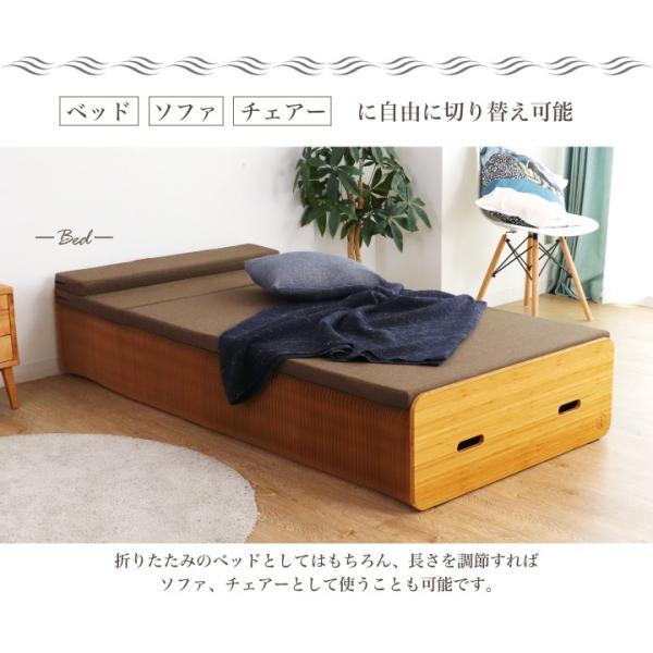 Paper Bed ペーパーベッド 紙ベッド 人気 セミシングル ベッド ソファ 収納|eckagudepo|07