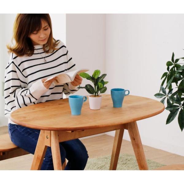 ダイニングテーブルセット ダイニングセット 2人掛け 3点 ベンチ ダイニングテーブル 幅95 無垢 天然木 天然杢 食卓テーブルセット|eckagudepo|04
