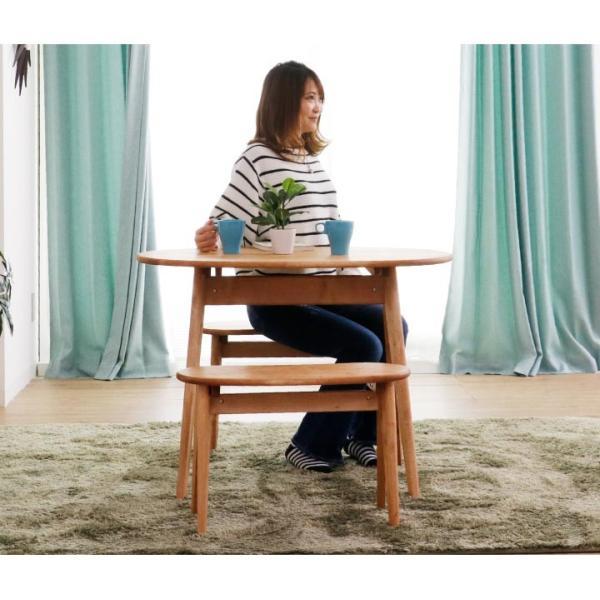 ダイニングテーブルセット ダイニングセット 2人掛け 3点 ベンチ ダイニングテーブル 幅95 無垢 天然木 天然杢 食卓テーブルセット|eckagudepo|08