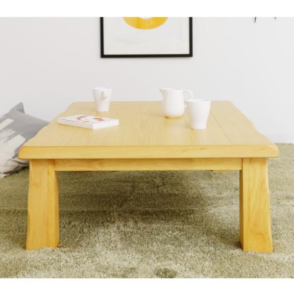 座卓 ローテーブル ちゃぶ台 幅120 タモ材 和 北欧 なぐり加工 リビングテーブル|eckagudepo|09