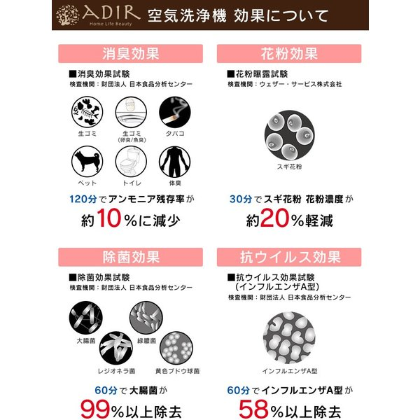 空気洗浄機 リサッカ S/ 消臭 除菌 花粉 アロマ|eclity|03